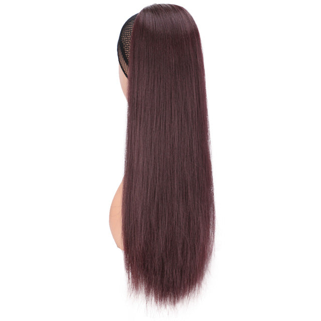 cheap synthetic kinky straight  ponytail for women