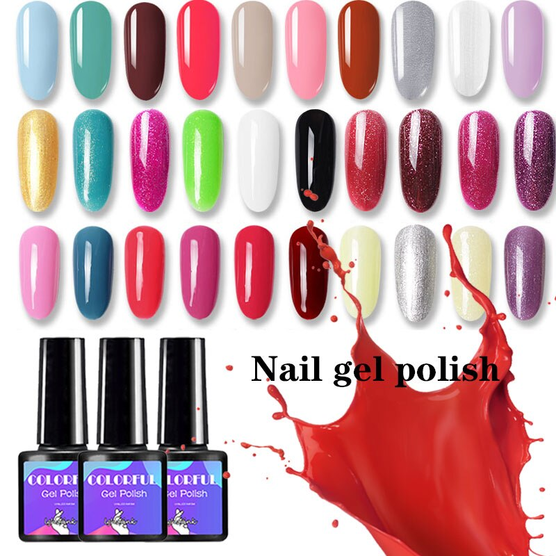 UV Gel Varnish Nail Polish Set For Manicure Gellak Semi Permanent Hybrid Nail Art