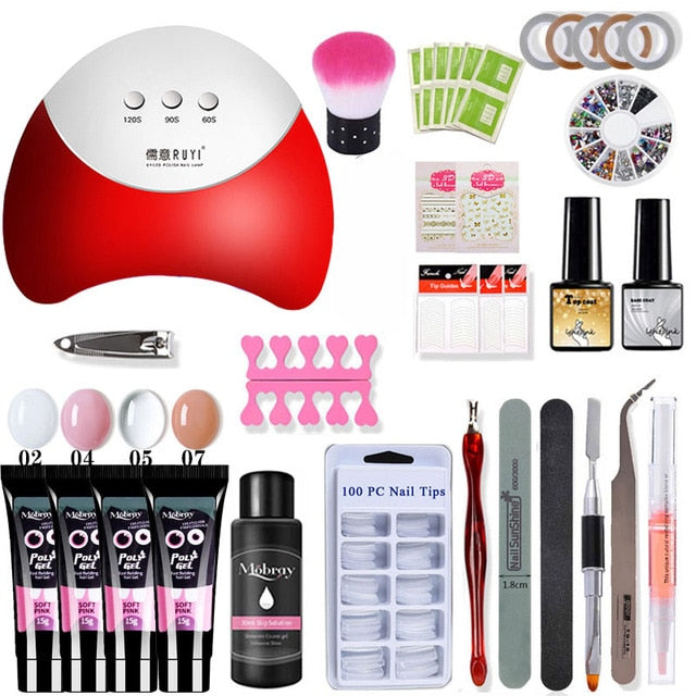 Quick Building For Nail Extensions Hard Jelly Gel Acrylic Kit Nail Art Set
