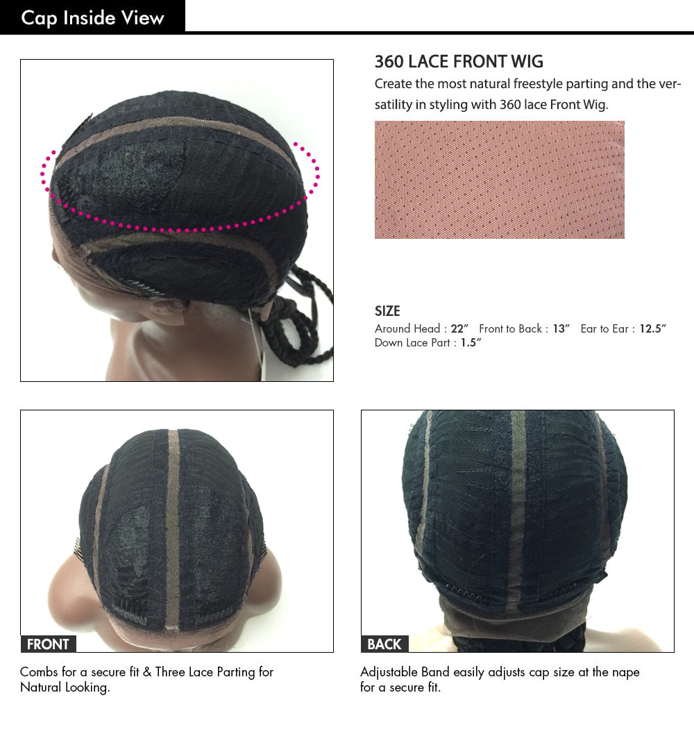Pre Braided Wig 2 Cornrows lace wig for black women