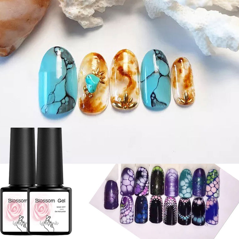 Blooming Painting Gel Nail Polish UV Gel Varnish DIY Magic Blossom Effect Flower