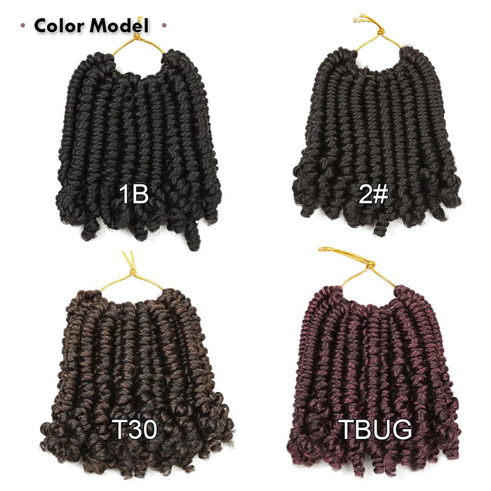 6Inch Bomb Passion Twists  Crochet Braids Synthetic Braiding Hair