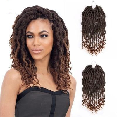 Short Curly Faux Locs Braid Synthetic Hair Extensions 12inch for sale