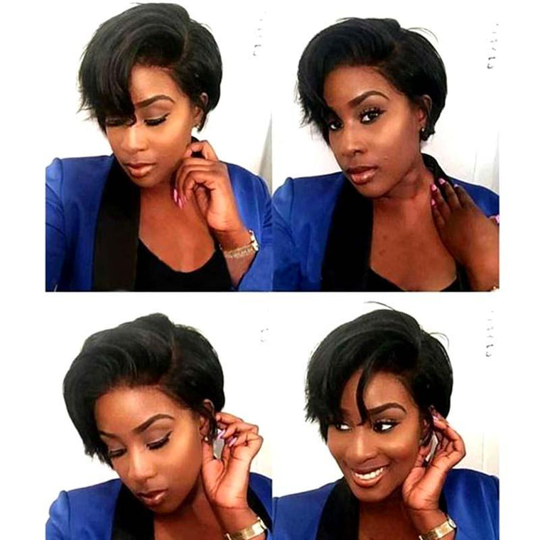 New Pixie Cut Human Hair Lace Wig for American African Women Surprisehair