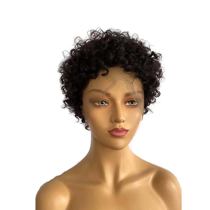 short black brazilian hair curly wig