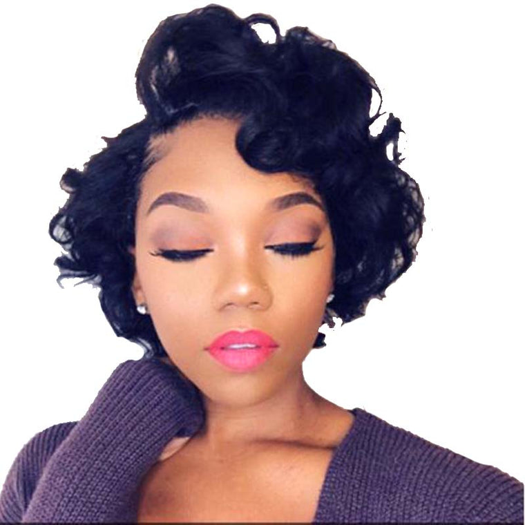 Natural Curl Pixie Cut Wig Virgin Human Hair Short Lace Wig Surprisehair