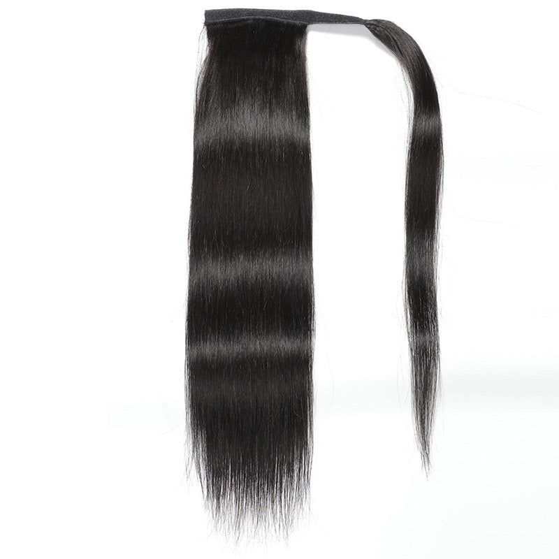 straight Brazilian hair ponytail