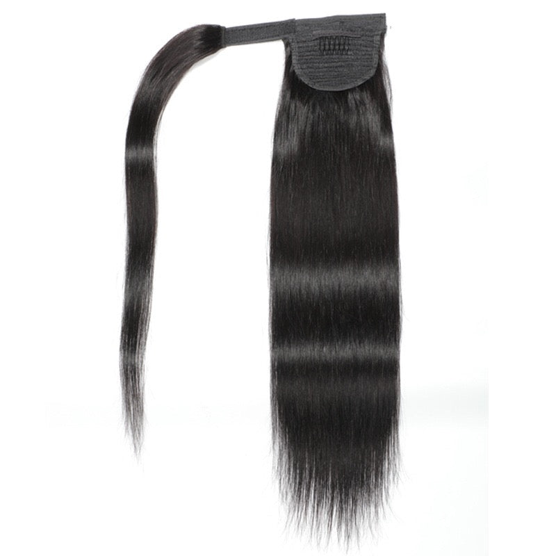 straight Brazilian human hair ponytail
