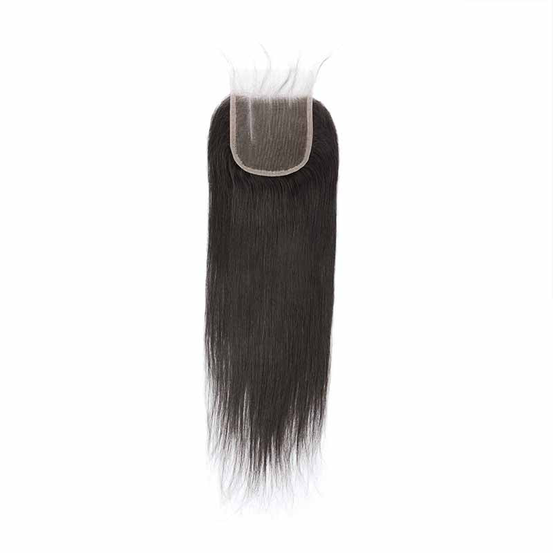 peruvian straight lace closure 3part