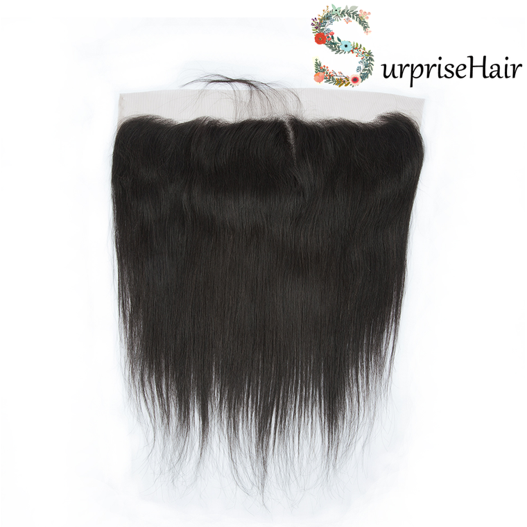 Surprisehair Brazilian Straight Lace Front Closure 13x4 Human Hair