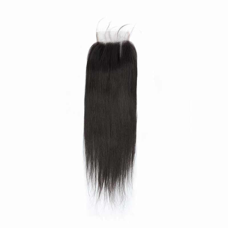Peruvian hair 3 Part Straight 4x4 Lace Closure with Baby Hair Surprisehair