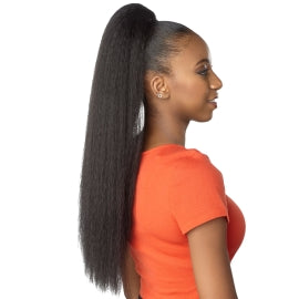 synthetic kinky straight ponytail for black women