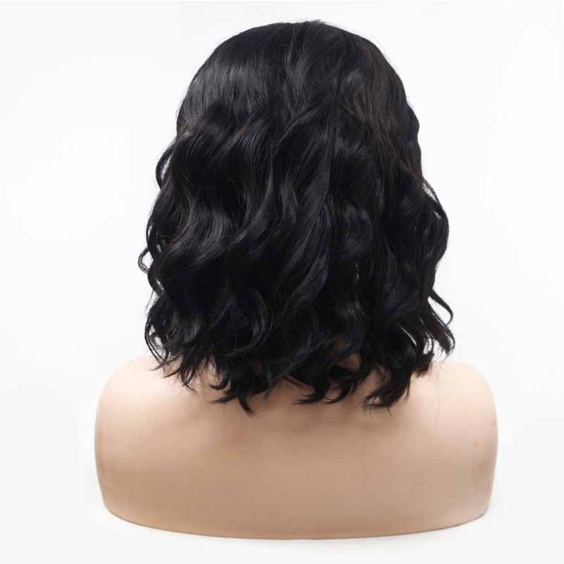 jet black synthetic wig