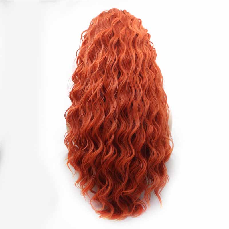 deep wave Synthetic Wig Orange