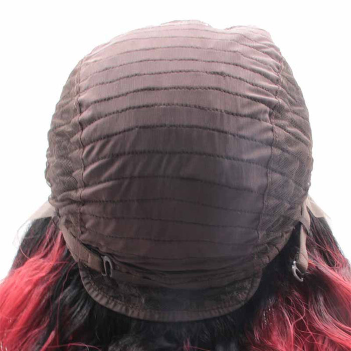 Surprisehair Synthetic Wig Red Ombre Curly 24inch  Lace Front Wig