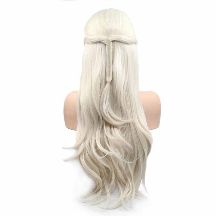 white synthetic wig quality