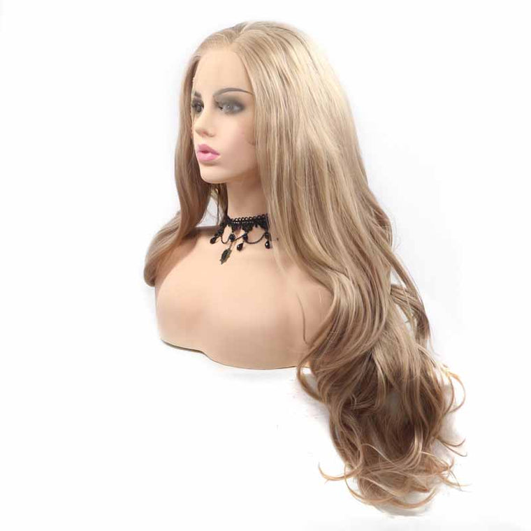 Light Brown Synthetic Lace Front Wigs