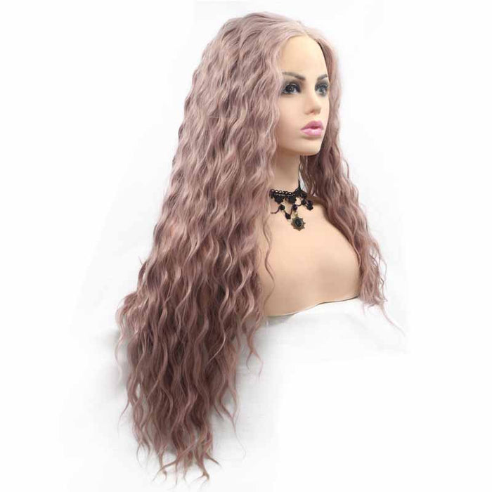 cheap synthetic lace front wig curly