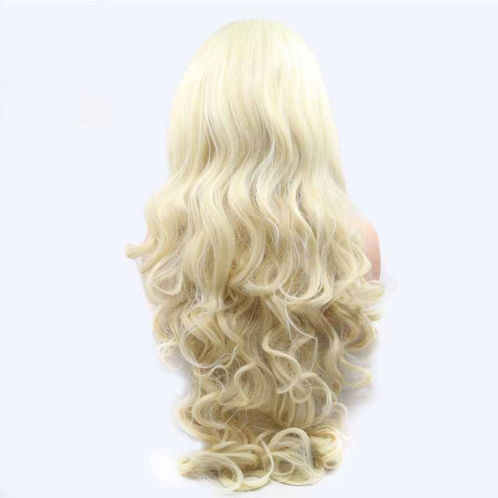 halloween synthetic lace wig white color