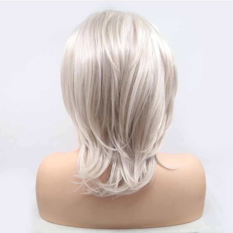 Surprisehair Silvery Short Synthetic Lace Wig Straight Quality Lace Wig