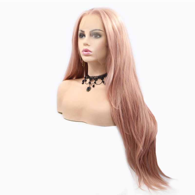 synthetic wig pastel pink