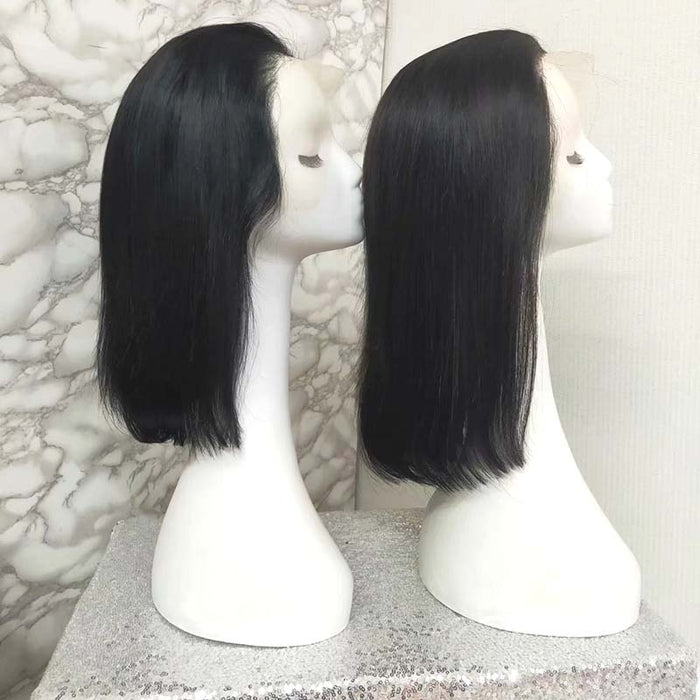 transparent lace wig bob human hair for black women