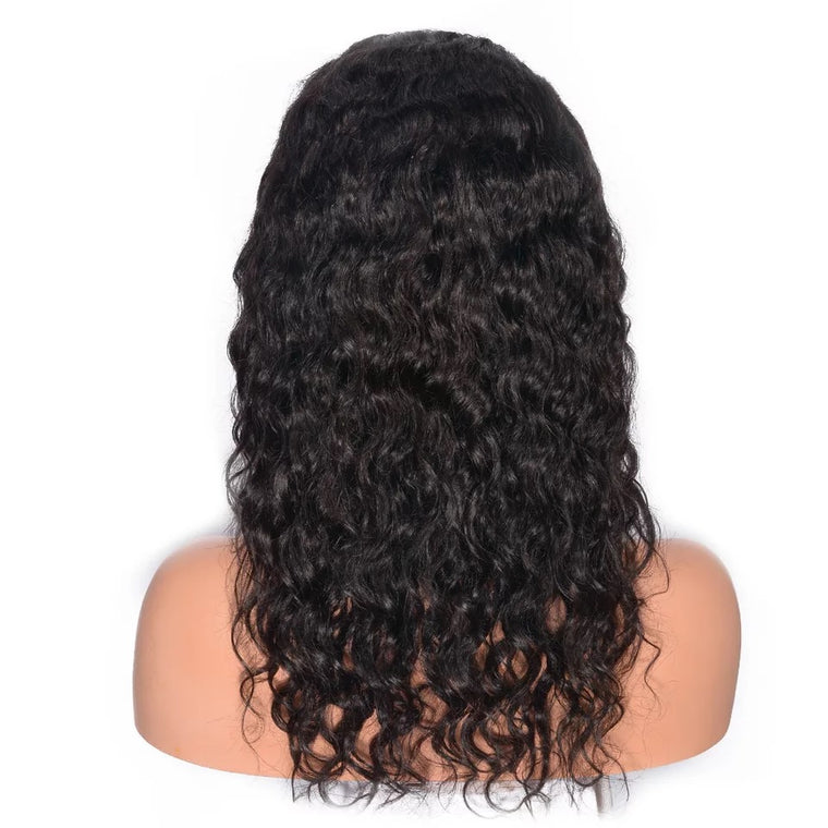 Surprisehair Best Brazilian Water Wave Full Lace Wig Virgin Hair Hight Density