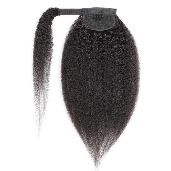 yaki straight human hair ponytail