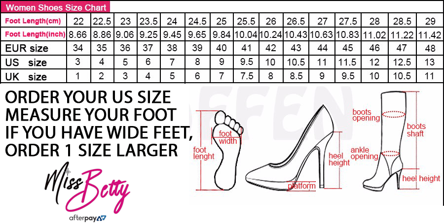 Size charts miss betty clothing mens shoes size chart publicscrutiny Gallery