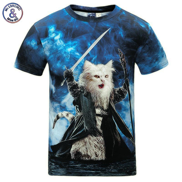 3D Cats Men's T-Shirts