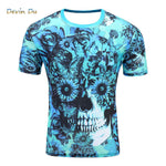 Men's Short Sleeve Polyester O-Neck T-Shirt 3D