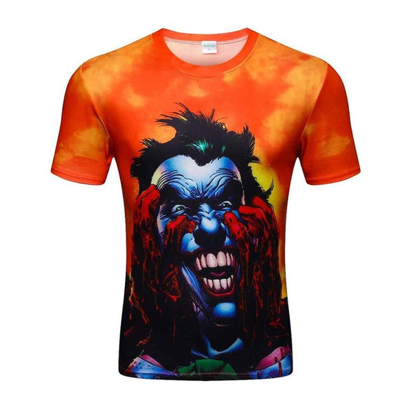 Mens 3D Colorful Smoke Smoking Printed T-Shirts