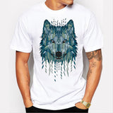 Cool Geometric Wolf Men's T-Shirts