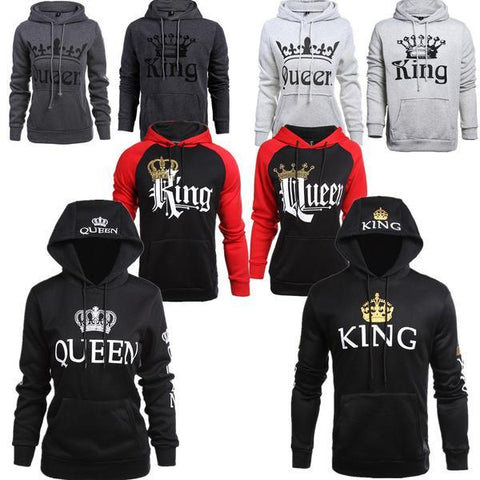 King Queen Hoodies