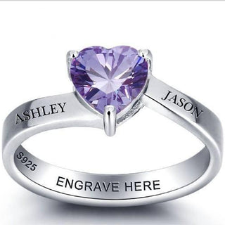 Engrave Heart Ring