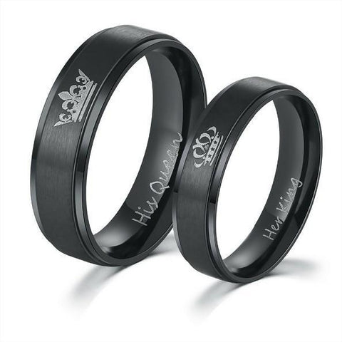 """His Queen Her King"" Black Rings"