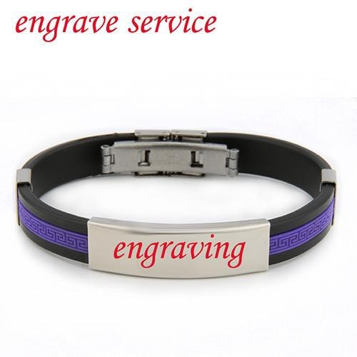 listing personalized il silver custom bracelet leather uk and