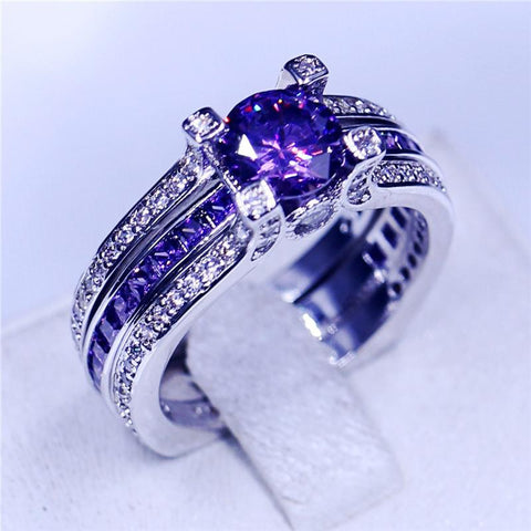 Purple 925 Sterling Silver Band