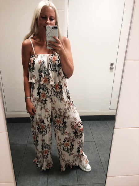 Floral Pleated Jumpsuit