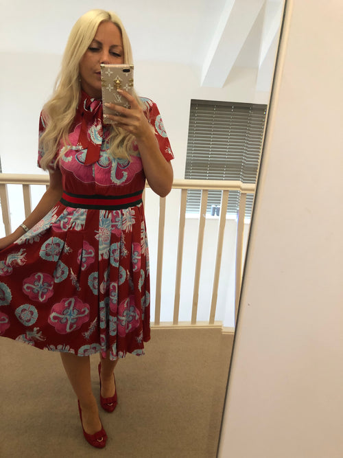 Gucci Inspired Print Midi Dress