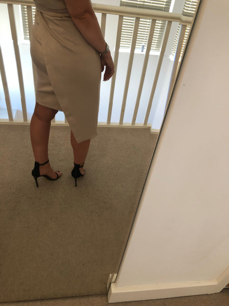 Cream Pencil Dress