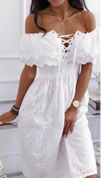 Strapless Frill BabyDoll Dress made in Italy