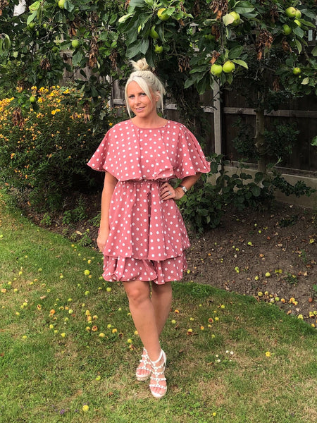Polka dot Tiered Dress