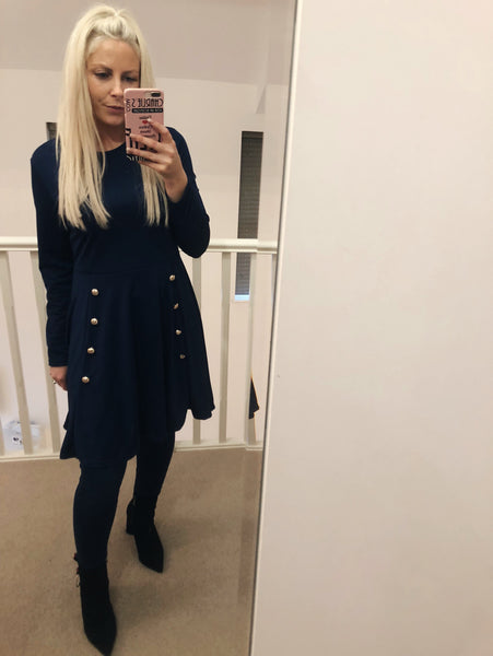 Navy Military Dolly Dress or Top