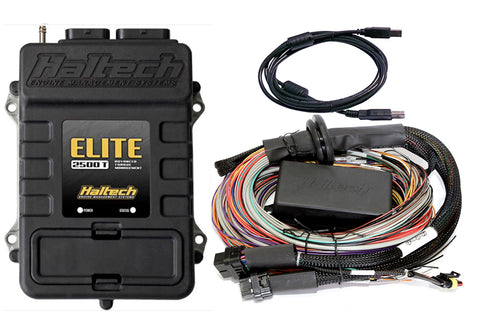 Haltech Elite 2500-T + 2.5m (8ft) Premium Universal Wire-in Harness Kit