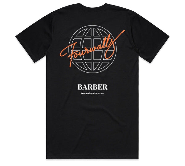 FOURWALLS MEMBERS ONLY BARBER TEE (BLACK)
