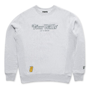 FOURWALLS OUTLINE CREWNECK (GREY MARLE)
