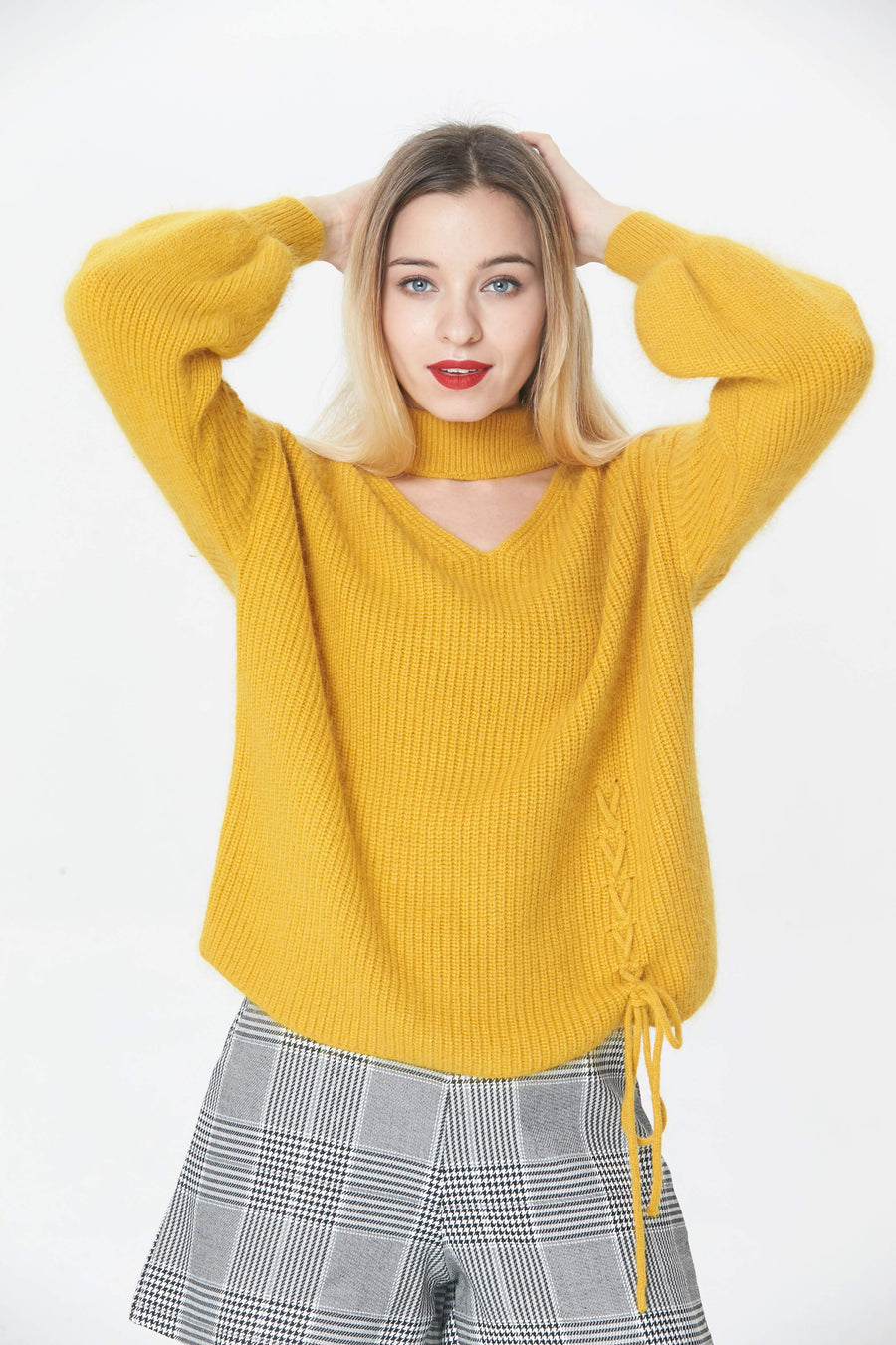 RIA Knitswears Lucy angora Chalker pullover