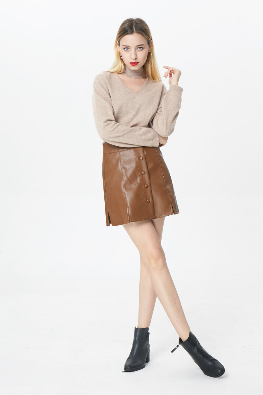 RIA Skirts Hadley faux leather skirt
