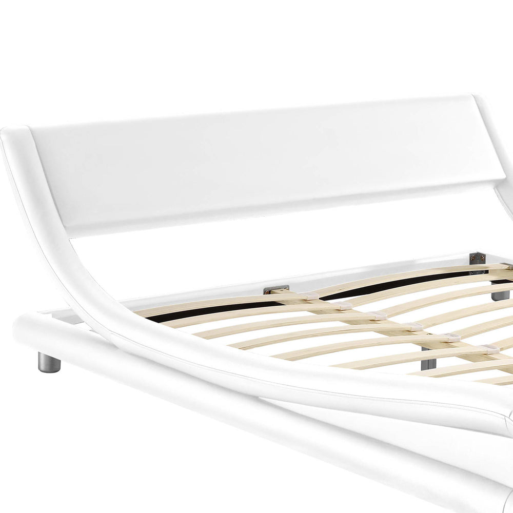Florence White King Bed Frame Interiors Domain